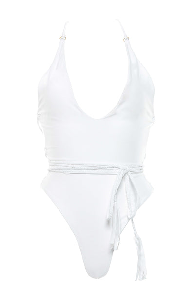 White Demery Jayne One Piece Swim