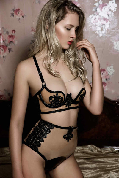 Maia Latex Lingerie Set