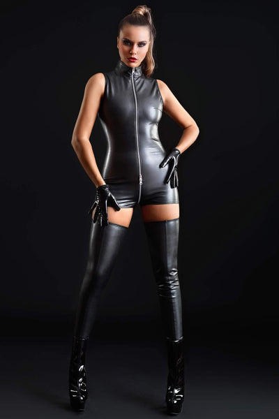 Erika Vegan Leather Romper