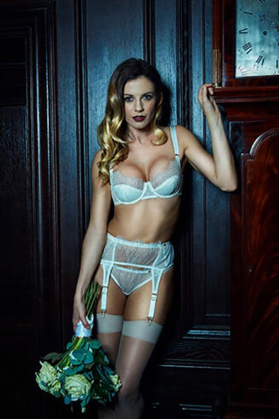 Arabella Bridal French Lace Garter Set