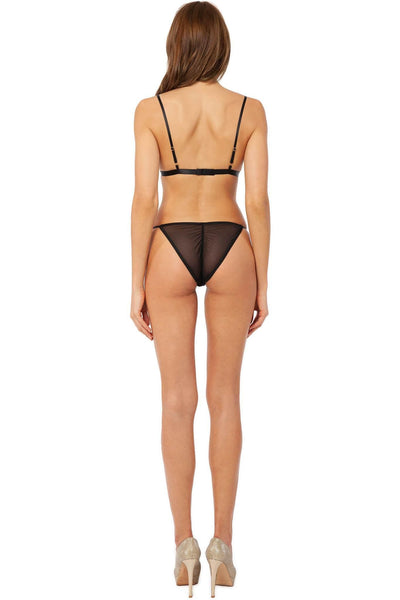 Ellis Swarovski Sheer Lingerie Set
