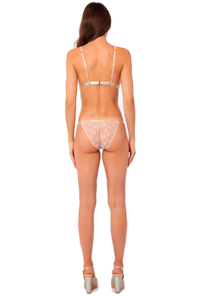 Jennifer Swarovski Sheer Lingerie Set