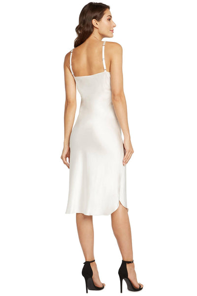 Madison Silk Slip Dress – Clear Crystal Beaded Straps - Darkest Fox