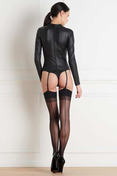Black Back Seamed Stockings