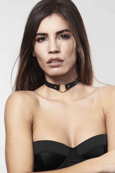 Maze Vegan Leather O-Ring Choker