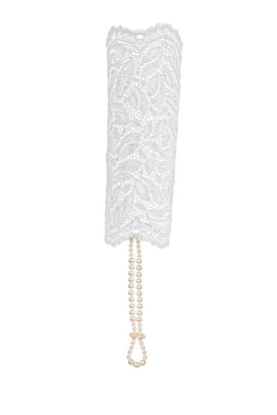 White Paris Sensation Pearl Cuff