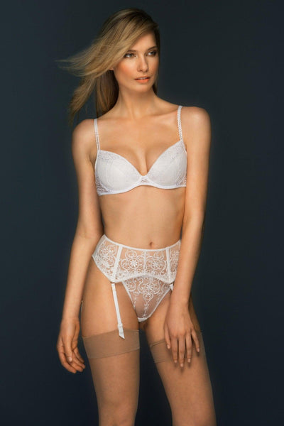 Allegra Lace Narrow Suspender Belt