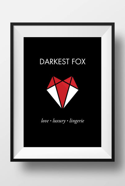 "Darkest Fox 11"" x 17"" Poster"