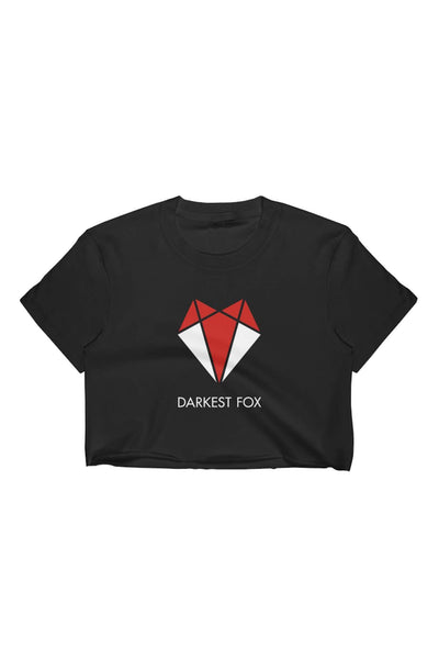 Darkest Fox Raw Edge Crop Top