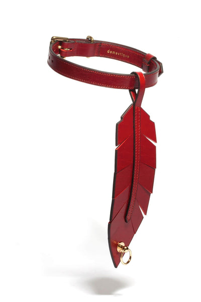Rouge-gorge Red Feather Choker