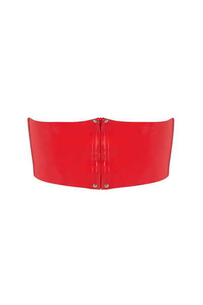 Scarlet Red Latex Bandeau Crop Top