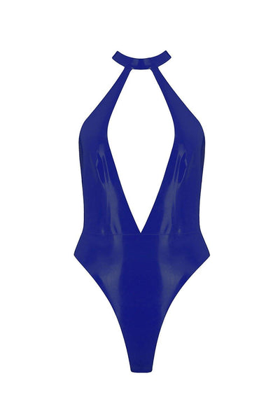 Elissa Poppy Royalblue Navy Latex Bodysuit