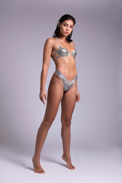 Gamma Tau Latex Lingerie Set