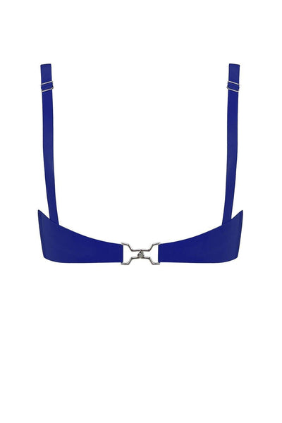 Royalblue Navy Cut Out Latex Bralette