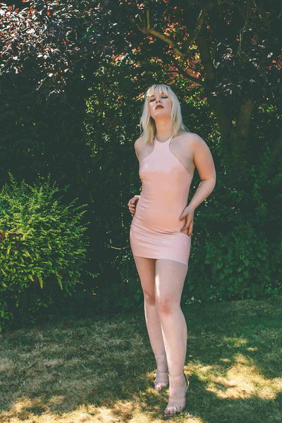 Baby Pink Latex Mini Dress