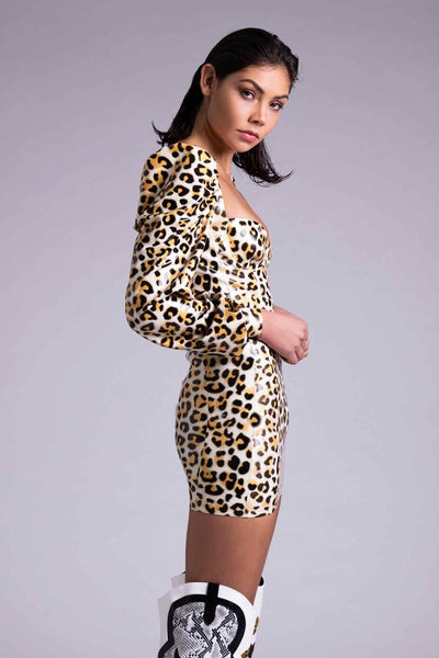 Delta Leopard Latex Dress