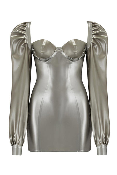 Delta Silver Latex Dress