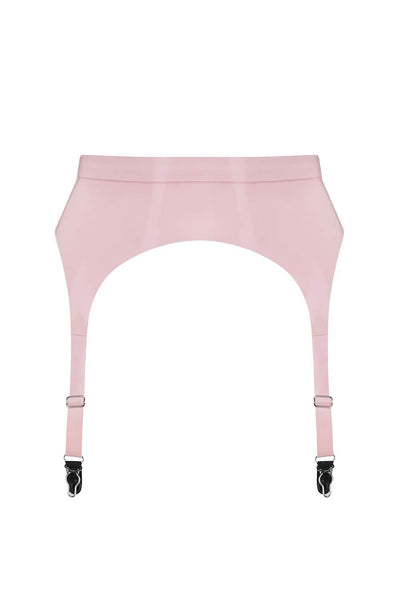 Baby Pink Latex Garter Belt