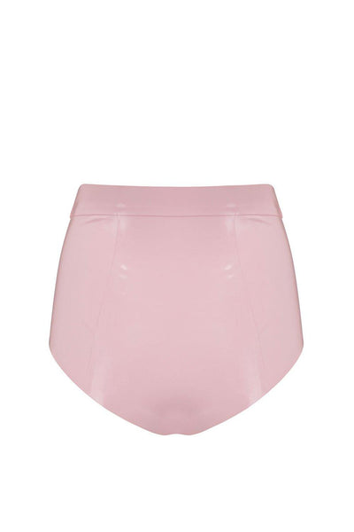 Baby Pink Latex Disco High Waist Pant