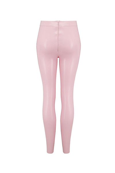 Baby Pink Latex Leggings
