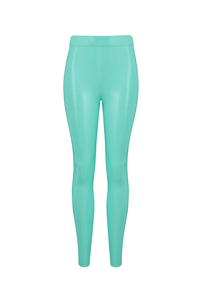 Jade Green Latex Leggings