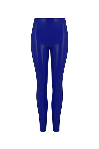 Royalblue Navy Latex Leggings