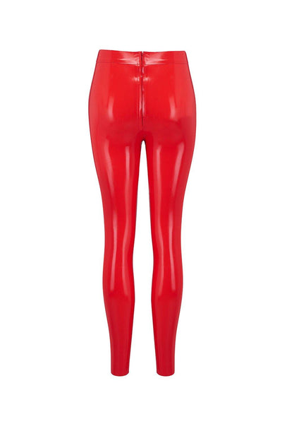 Scarlet Red Latex Leggings