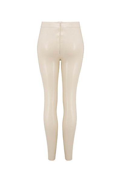 White Ivory Latex Leggings