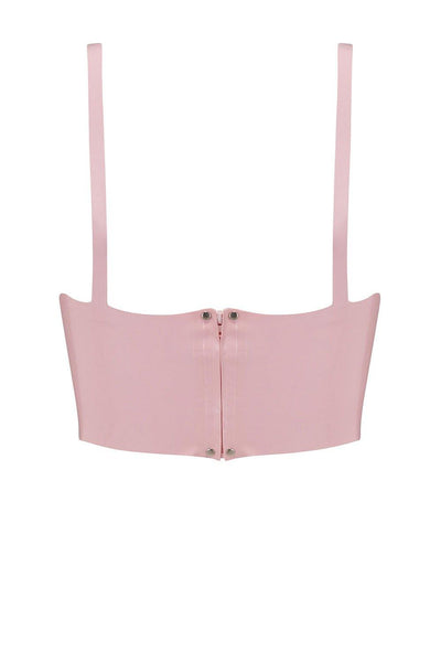 Baby Pink Latex Full Cup Longline Bra
