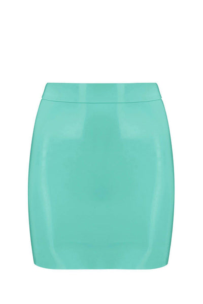 Jade Green Latex Mini Skirt