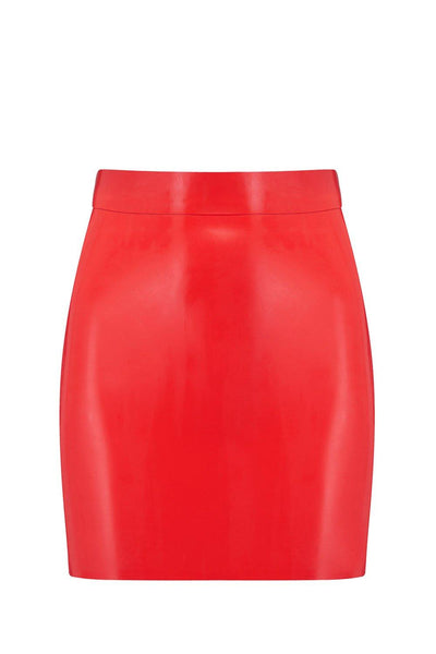Scarlet Red Latex Mini Skirt