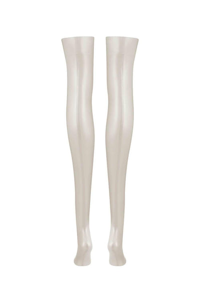 Sigma White Ivory Latex Stockings