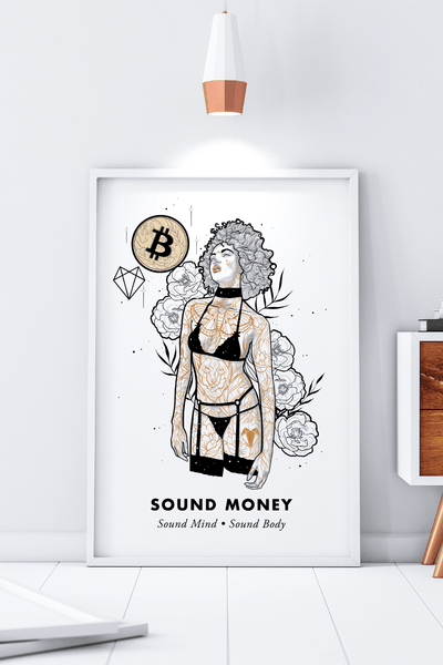 Bitcoin Art in Frame • Emily x Sound Money