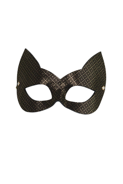 Lush Molded Leather Cat Mask