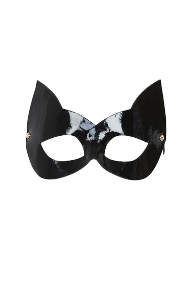 Ritsy Molded Black Leather Cat Mask