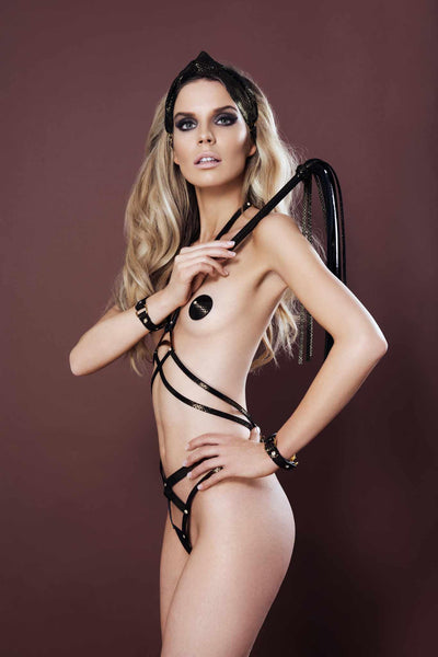 Lush Leather Harness Thong