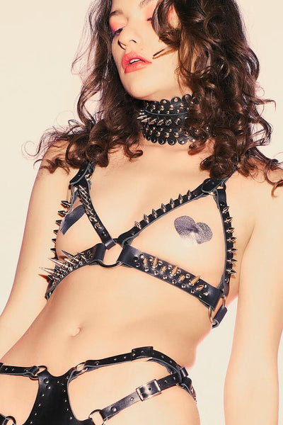 Thorn Leather Fetish Lingerie Set