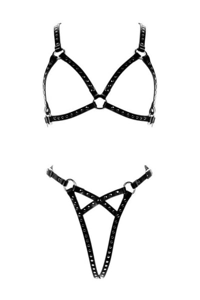 Astra Leather Rivets Harness Set