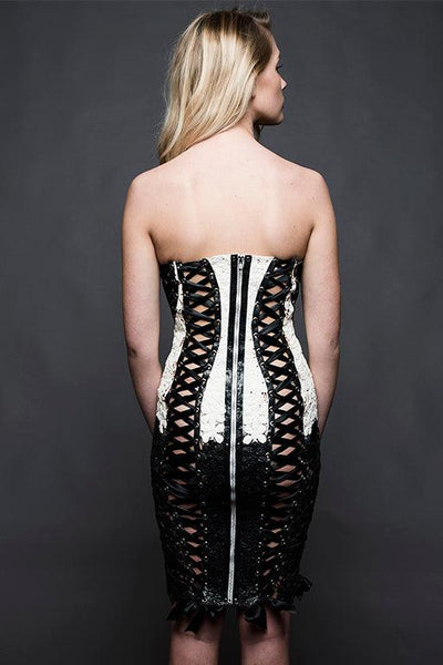 Iris Corset Latex Dress