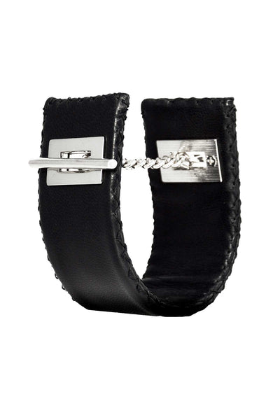 Stitched Leather Cuff Bracelet