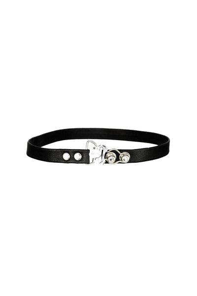 Leather Garter Choker & Wrap Bracelet