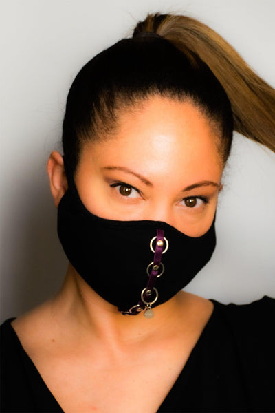Black Bamboo Face Mask