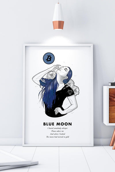 Bitcoin Art in Frame • Lexy x Blue Moon