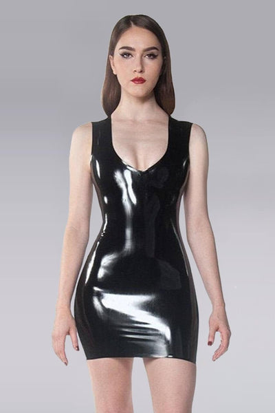 Latex Little V Dress