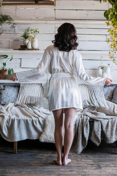 Dallas Pure Silk Robe