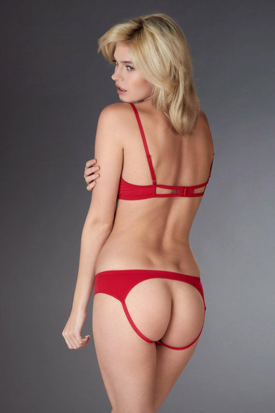 Le Petit Secret Red Naked Shorty Set