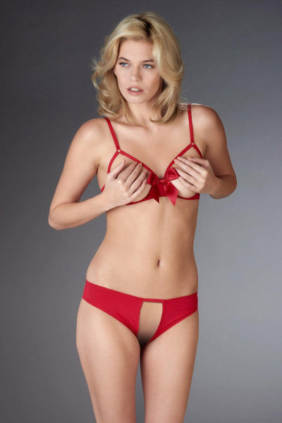 Le Petit Secret Red Open Panty Set