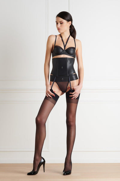 Chambre Noire Vegan Leather Lingerie Set