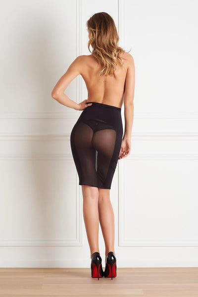 Belle du Jour Sheer Pencil Skirt