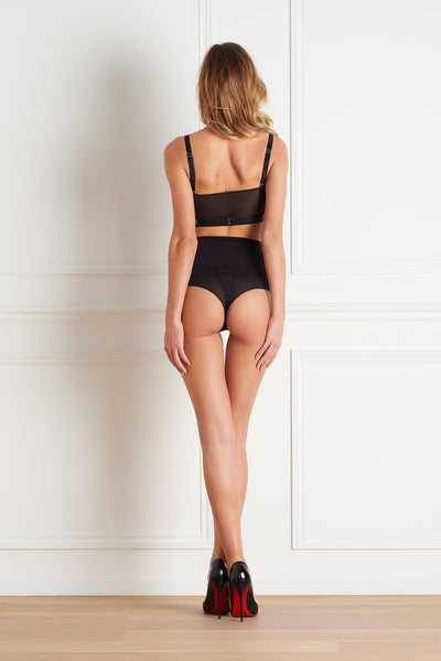 Belle du Jour High Waist Slotted Thong